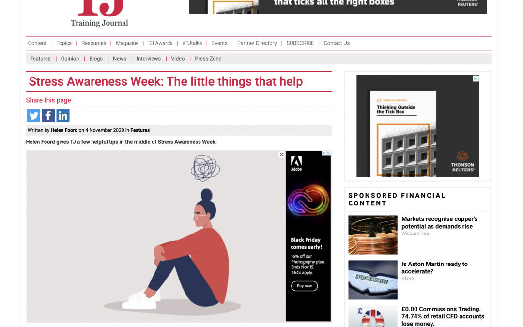 Stress Awareness Week: The little things that help